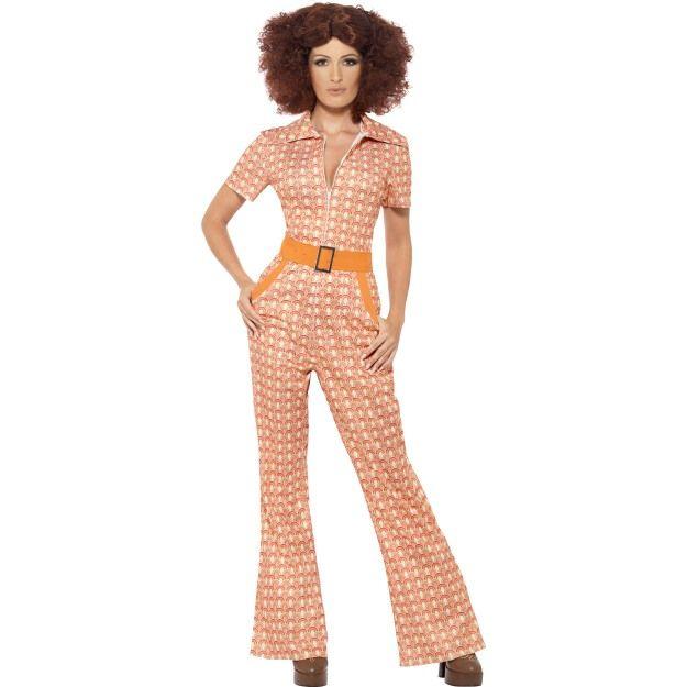 Kostým 70. léta - dámský oranžový - L (95) Smiffys.com