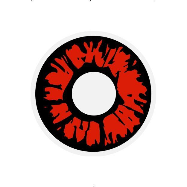 Oční čočky - Explosion red (74D) Smiffys.com