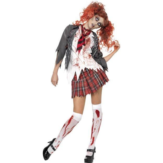 Kostým - High School zombie - školačka - XS (87-E) Smiffys.com