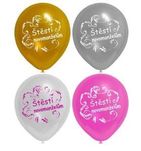 Balónek nafukovací  - svatební 1 ks (12H)
