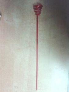 Tyčka na celofánový balónek červená