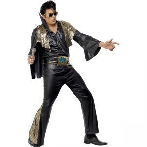 Kostým - Elvis černo-zlatý - L Smiffys.com