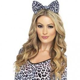 Čelenka s mašlí leopard (52) Smiffys.com