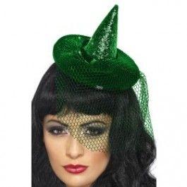 Klobouček mini čarodějnice zelený Smiffys.com