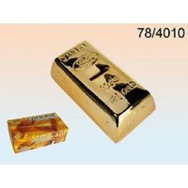 Pokladnička zlatá cihla 16,5x8,5x5cm (76-C)