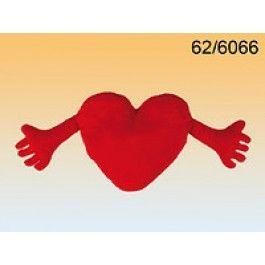 Polštářek srdce  s ručičkama (18-B)