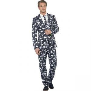 Kostým - Oblek - Lebky - XL
