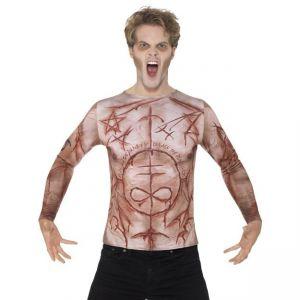 Kostým - Tričko zohavená kůže - L