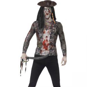 Kostým - Tričko Pirát Zombie - L