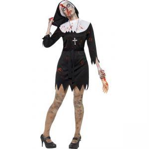 Kostým - Jeptiška Zombie - M