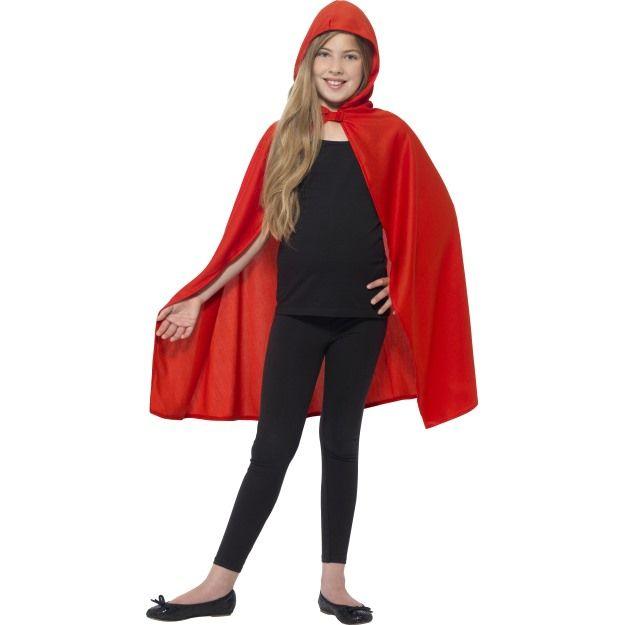 Dětský plášť s kapucí - červený - M/L (84-E) Smiffys.com