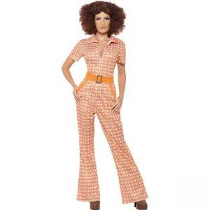 Kostým 70. léta - dámský oranžový - M