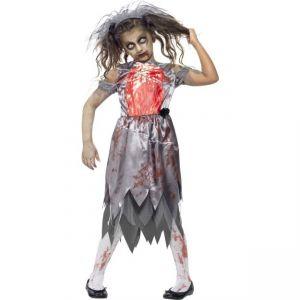 Dětský kostým - Zombie - nevěsta - M