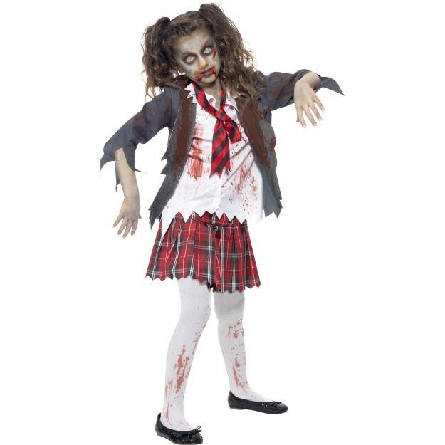 Dětský kostým - Zombie - školačka - L (85-E) Smiffys.com