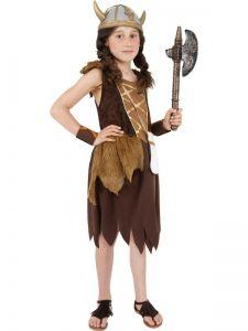Dětský kostým - Vikingská dívka - L (85-F)