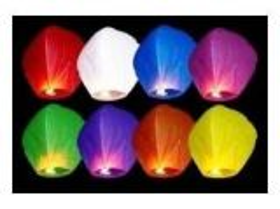 Lampion přání, různé barvy (8-H)
