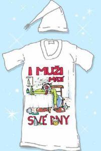 Košile na spaní- I muži mají své dny- XL (17-H)