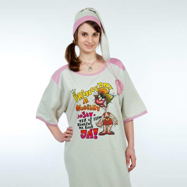 Košile na spaní - Princezny a modelky - M (17-I) Divja