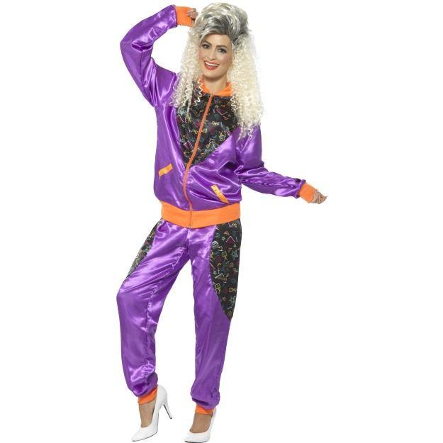 Kostým - Tepláková souprava - fialová - M (88-B) Smiffys.com