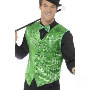 Flitrová vesta - zelená - XL