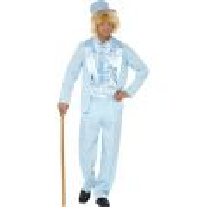 Kostým - Bláznivý oblek - modrý - M