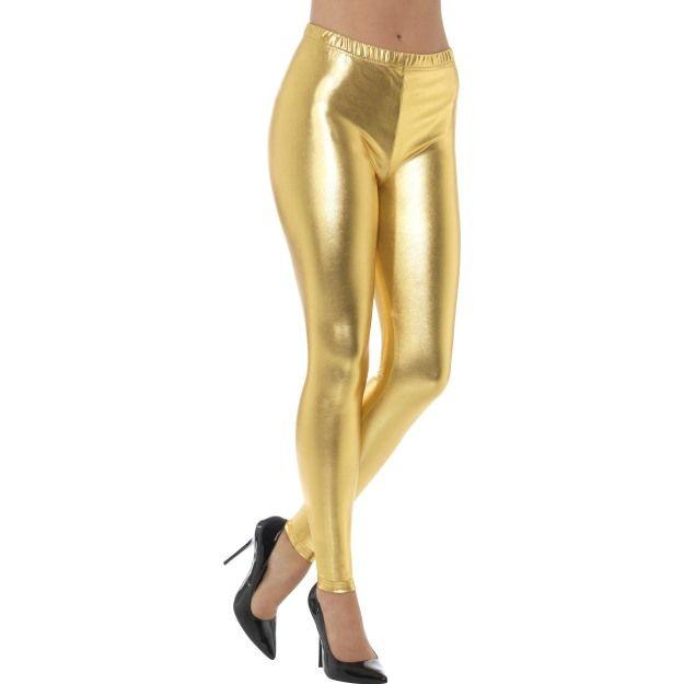 Legíny - zlaté, lesklé - S (25-I) Smiffys.com