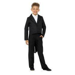 Dětský  kostým - frak -  černý - L
