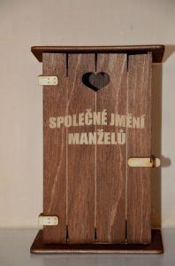 Pokladnička kadibudka dřevěná - Společné jmění manželů (75-C)