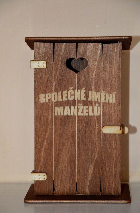Pokladnička kadibudka dřevěná - Společné jmění manželů (75B) Morávek