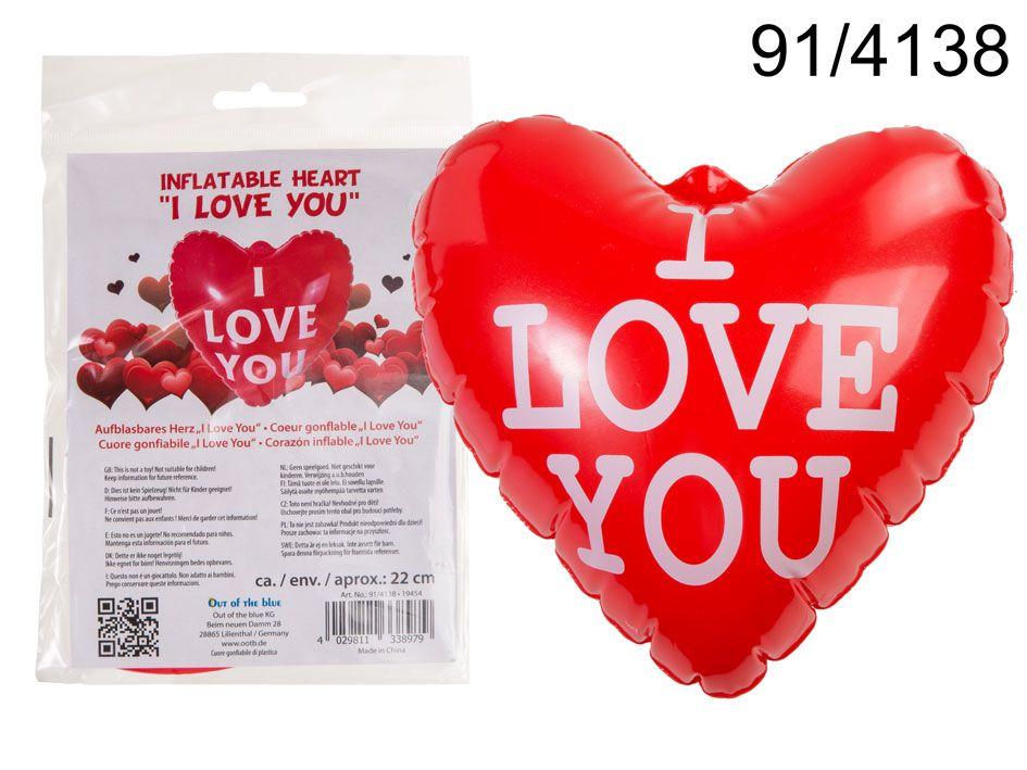 Srdce nafukovací - Ilove you 22cm (25H) Oval Books