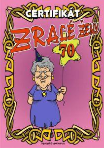 Certifikát - zralé ženy 70 - č.38 (26)