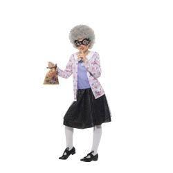 Dětský kostým - Babička gangsterka - L