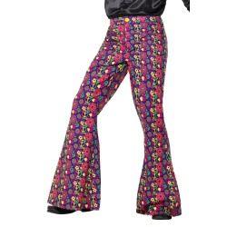 Kalhoty - Hipís - pánské - 60 léta - M (99) Smiffys.com