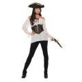 Kostým - Pirátská košile - dámská, bílá - S