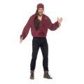 Kostým - Pirátská košile - pánská, vínová - XL (105)