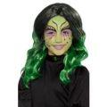 Dětská paruka - Čarodějnice - zelená (4-H)