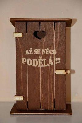 Pokladnička kadibudka dřevěná - až se něco podělá (75-B,C) Morávek
