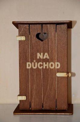 Pokladnička kadibudka dřevěná - na důchod (75-C) Morávek