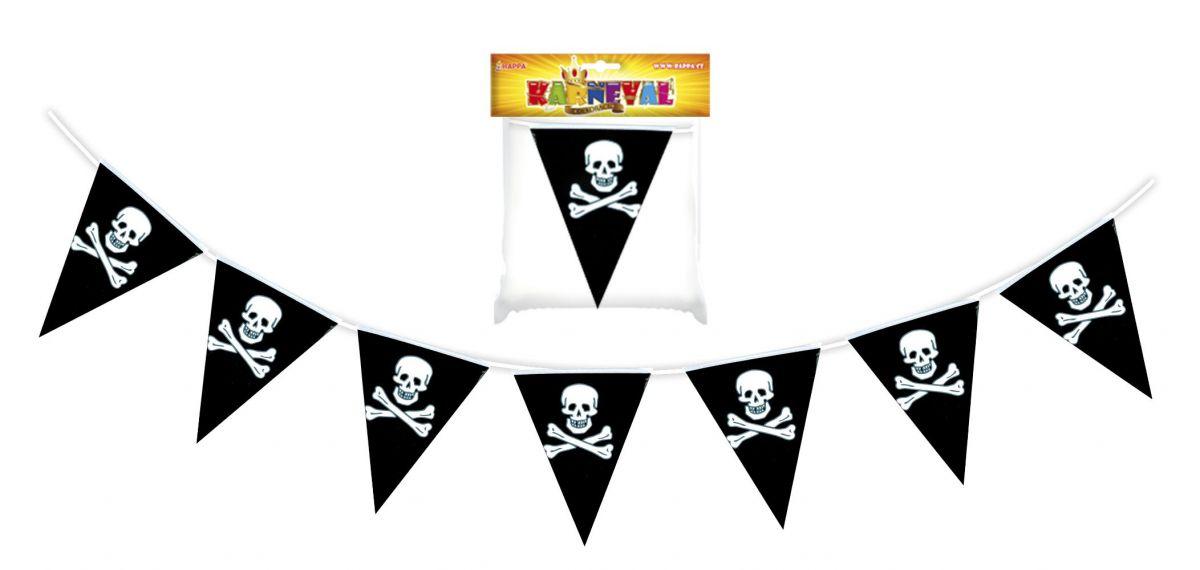 Vlajka pirátská - girlanda 7 m (18) Rappa