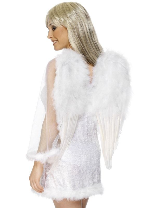 Křídla chlupatá bílá 50x60cm (107, 124) Smiffys.com