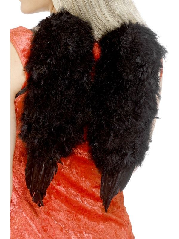 Křídla chlupatá černá 30x40 cm (108) Smiffys.com