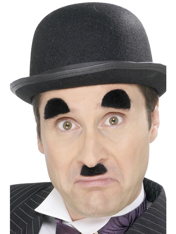 Knírek + obočí Chaplin (58) Smiffys.com