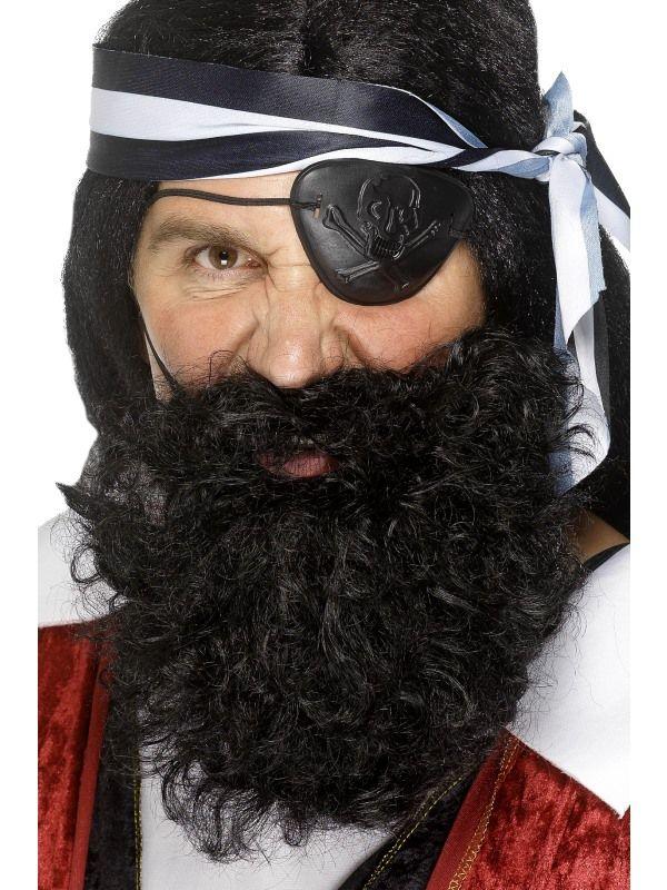 Vousy černé - pirátské (58) Smiffys.com