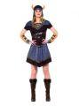 Kostým - Vikinská žena - S