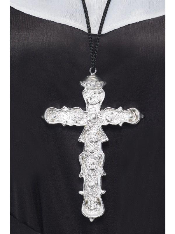 Kříž stříbrný 15cm (92) Smiffys.com