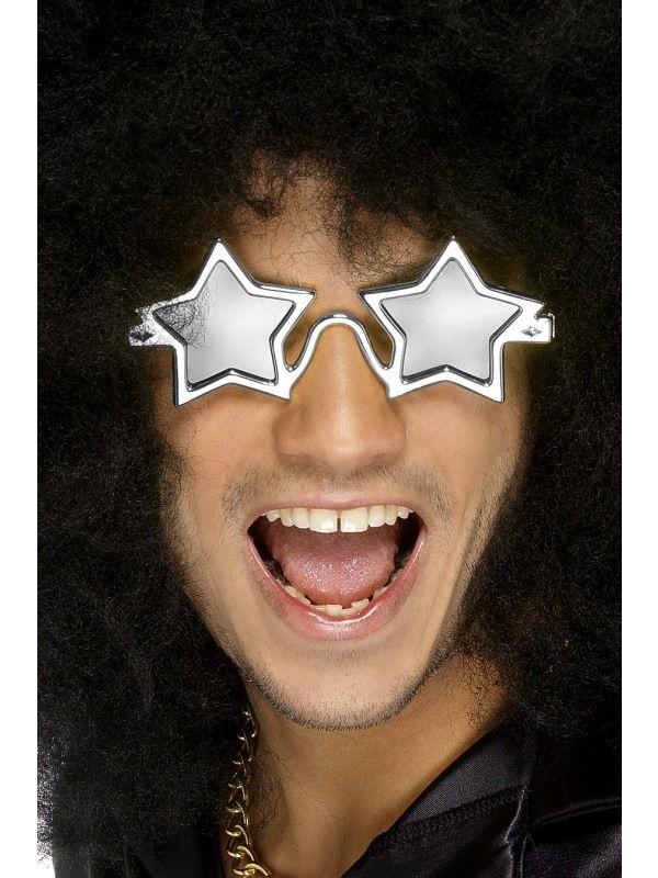 Brýle stříbrné - hvězdy (48A) Smiffys.com