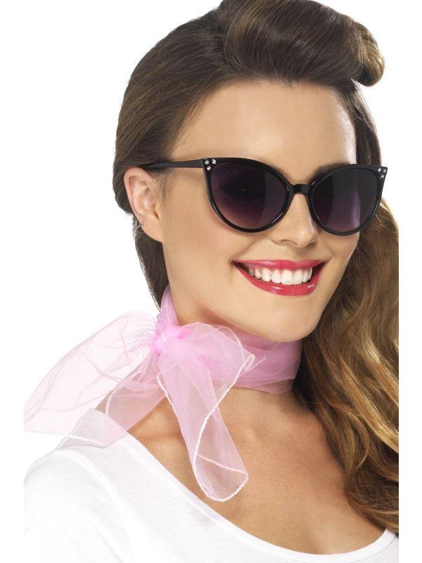 Šátek - růžový 50 léta (92) Smiffys.com
