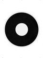 Oční čočky černé 1 denní  (74D)