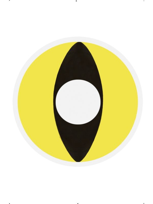 Oční čočky - Yellow cat (74D) Smiffys.com