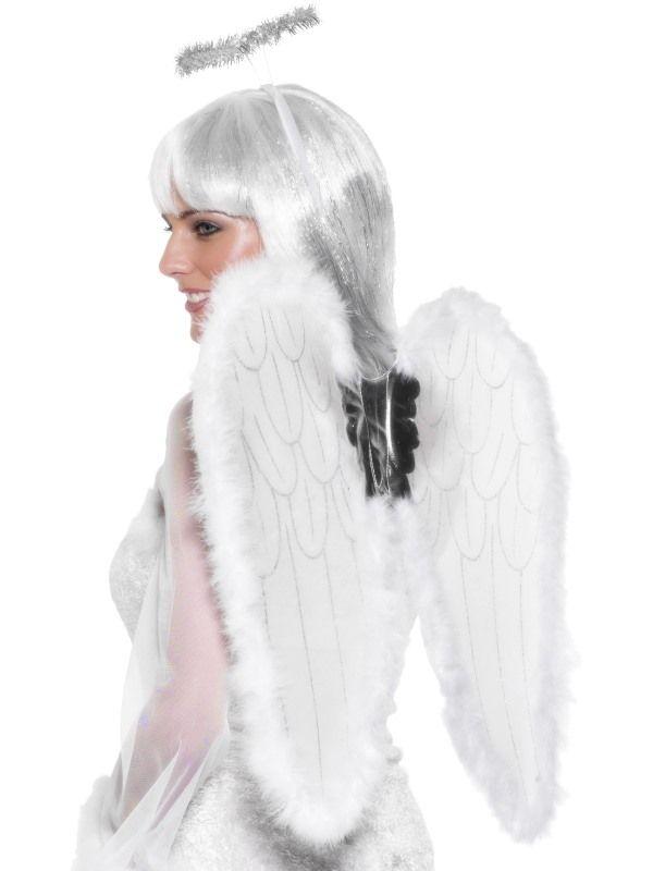 Sada anděl křídla-svatozář (107) Smiffys.com